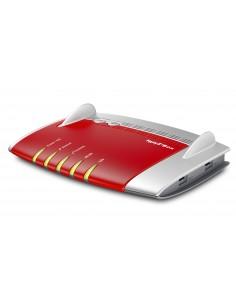 AVM FRITZ!Box 7490 langaton reititin Kaksitaajuus (2,4 GHz/5 GHz) Gigabitti Ethernet 3G Punainen, Hopea Avm Computersysteme Vert