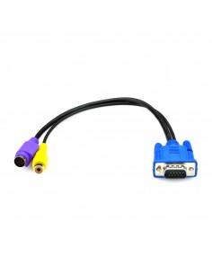 Black Box AVS-CBL-VG-CV videokaapeli-adapteri 0.32 m VGA (D-Sub) RCA + S-Video Monivärinen Black Box AVS-CBL-VG-CV - 1