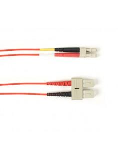 Black Box FOLZH10-003M-SCLC-RD valokuitukaapeli 3 m LSZH OM3 SC LC Punainen Black Box FOLZH10-003M-SCLC-RD - 1