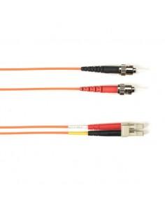Black Box FO Patch Cable Color Single-m - Orange ST-LC FOLZHSM-025M-STLC-OR valokuitukaapeli 25 m LSZH OS2 Oranssi Black Box FOL