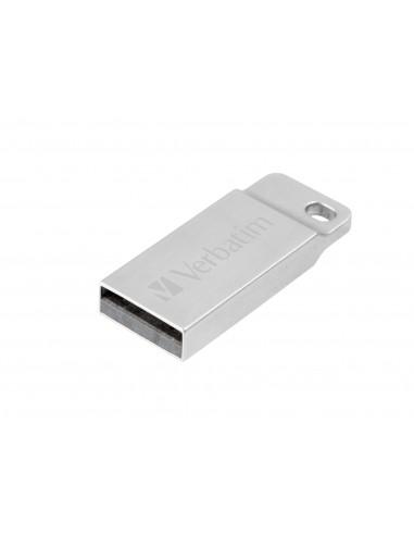 Verbatim Metal Executive USB-muisti 16 GB USB A-tyyppi 2.0 Hopea Verbatim 98748 - 1