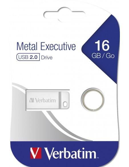 Verbatim Metal Executive USB-muisti 16 GB USB A-tyyppi 2.0 Hopea Verbatim 98748 - 6