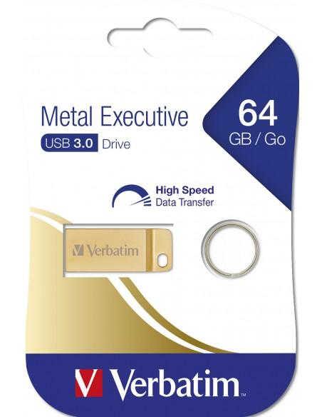 Verbatim Metal Executive USB-muisti 64 GB USB A-tyyppi 3.2 Gen 1 (3.1 1) Kulta Verbatim 99106 - 5