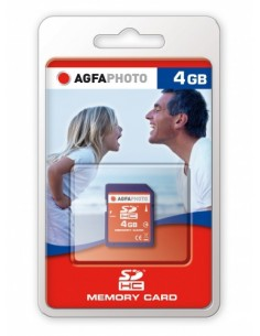 AgfaPhoto 4GB SDHC Memory card flash-muisti Agfaphoto 10405 - 1