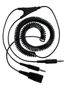 Jabra PC cord - QD to 2x3.5mm 2 x 3.5mm jack Musta Gn Netcom 8734-599 - 1
