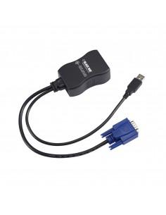 Black Box DCX-VGA kaapeli liitäntä / adapteri RJ-45 VGA, USB A Musta Black Box DCX-VGA - 1