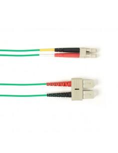 Black Box FOLZHSM-003M-SCLC-GN valokuitukaapeli 3 m LSZH OS2 SC LC Vihreä Black Box FOLZHSM-003M-SCLC-GN - 1