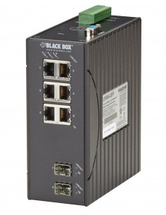 Black Box LEH906A-2SFP verkkokytkin Hallittu Fast Ethernet (10/100) Musta Black Box LEH906A-2SFP - 1