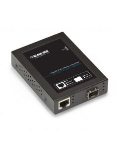 Black Box LPS535A-SFP 1000Mbit/s Monitila, Yksittäistila Musta verkon mediamuunnin Black Box LPS535A-SFP - 1