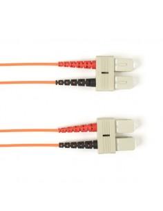 Black Box SC–SC 10m valokuitukaapeli OM3 Oranssi Black Box FOCMR10-010M-SCSC-OR - 1