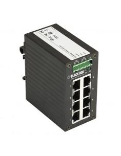 Black Box LGH008A verkkokytkin Hallitsematon Gigabit Ethernet (10/100/1000) Musta Black Box LGH008A - 1