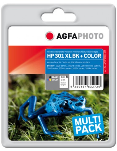 AgfaPhoto APHP301XLSET mustekasetti Musta, Syaani, Magenta, Keltainen 2 kpl Agfaphoto APHP301XLSET - 1