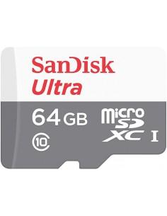 Sandisk 64gb Ultra Microsdxc Mem 100mb/s Class 10 Uhs-i Sandisk SDSQUNR-064G-GN3MN - 1