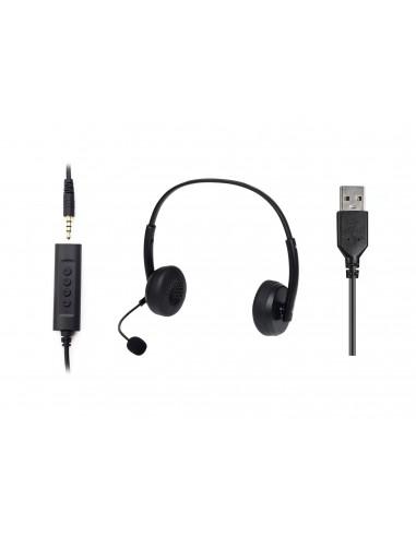 Sandberg 126-21 kuulokkeet ja kuulokemikrofoni Pääpanta 3.5 mm liitin Musta Sandberg 126-21 - 1