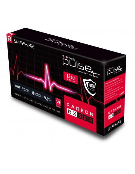 Sapphire PULSE RX 580 8G G5 OC Lite AMD Radeon 8 GB GDDR5 Sapphire Technology 11265-67-20G - 6