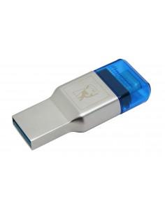 Kingston Technology MobileLite Duo 3C card reader USB 3.2 Gen 1 (3.1 1) Type-A/Type-C Blue, Silver Kingston FCR-ML3C - 1