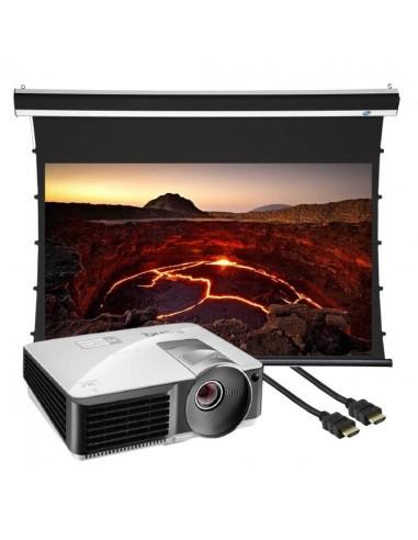 "BenQ MW712 projektori + 100"" mattaharmaa valkokangas + 5m kaapeli Cityplus MW712-VKA100GR-B50 - 1"