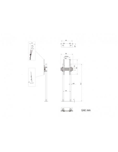 """Multibrackets 8953 kyltin näyttökiinnike 2.29 m (90"""") Musta Multibrackets 7350073738953 - 13"""