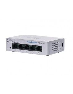 Cisco CBS110 Hallitsematon L2 Gigabit Ethernet (10/100/1000) 1U Harmaa Cisco CBS110-5T-D-EU - 1