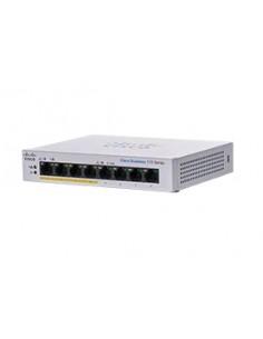 Cisco CBS110-8PP-D Ohanterad L2 Gigabit Ethernet (10/100/1000) Strömförsörjning via (PoE) stöd Grå Cisco CBS110-8PP-D-EU - 1