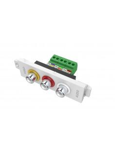 Vision TC3 3PHO pistorasia 3 x RCA Valkoinen Vision TC3 3PHO - 1