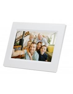 """Denver PFF-710WHITE digitala fotoramar Vit 17.8 cm (7"""") Pekskärm Wi-Fi Denver 119101010020 - 1"""
