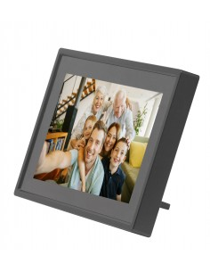 "Denver PFF-711BLACK digital photo frame Black 17.8 cm (7"") Touchscreen Wi-Fi Denver 119101010030 - 1"