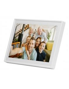 "Denver PFF-711WHITE digital photo frame White 17.8 cm (7"") Touchscreen Wi-Fi Denver 119101010040 - 1"