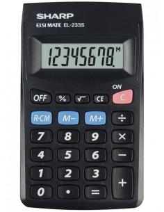 Sharp EL-233S laskin Tasku Perus Musta Sharp SH-EL233SBBK - 1