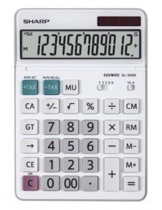 Sharp EL-340W laskin Työpöytä Näyttölaskin Valkoinen Sharp SH-EL340W - 1