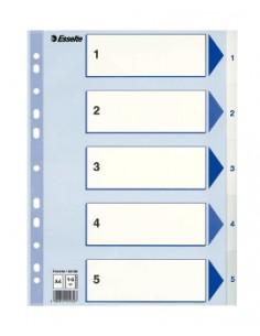 Esselte 100132 hakemisto Numeroitu välilehtihakemisto Polypropeeni (PP) Sininen, Valkoinen Esselte 100132 - 1