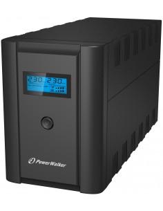 PowerWalker VI 1200 LCD/IEC Linjainteraktiivinen VA 600 W 6 AC-pistorasia(a) Bluewalker 10120093 - 1