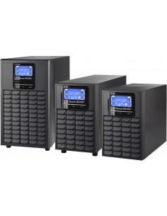 PowerWalker VFI 1000C LCD UPS-virtalähde Taajuuden kaksoismuunnos (verkossa) 1000 VA 800 W 3 AC-pistorasia(a) Bluewalker 1012017