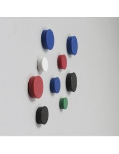 Nobo Magnets 30mm Blister Pack magneettitaulu Punainen Nobo 1901449 - 1