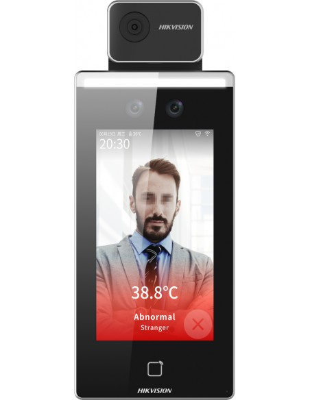 "Hikvision Digital Technology DS-K1TA70MI-T kasvojentunnistuspääte 2 MP 17.8 cm (7"") Musta Hikvision DS-K1TA70MI-T - 1"