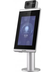 "Hikvision Digital Technology DS-K5671-3XF/ZU kasvojentunnistuspääte 2 MP 17.8 cm (7"") Musta, Harmaa Hikvision DS-K5671-3XF/ZU -"