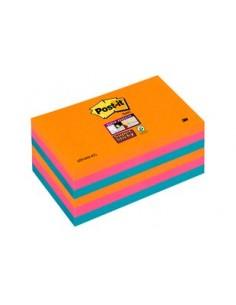 3M 655-6SS-EG självhäftande anteckningsblock Torg Blå, Orange, Rosa 3m 7100041857 - 1