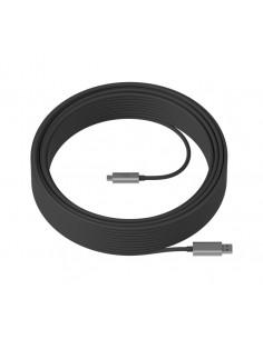 Logitech Strong USB-kaapeli 25 m 3.2 Gen 2 (3.1 2) USB A C Musta Logitech 939-001802 - 1