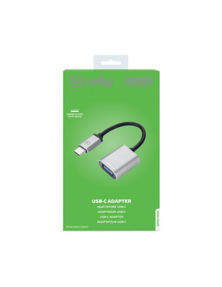 Celly PROUSBCUSBDS USB-kaapeli 3.2 Gen 1 (3.1 1) USB C A Hopea Celly PROUSBCUSBDS - 3