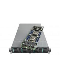 Intel VRN2224THY2 palvelinrunko Intel® C612 LGA 2011-v3 Teline ( 2U ) Musta, Hopea Intel VRN2224THY2 - 1