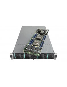 Intel VRN2224THY4 palvelinrunko Intel® C612 LGA 2011-v3 Teline ( 2U ) Musta, Hopea Intel VRN2224THY4 - 1