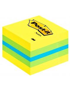 3M Post-it 2051L Neliö Sininen, Vihreä, Turkoosi, Keltainen 400arkkia itseliimautuva muistilappu 3m 7000080736 - 1