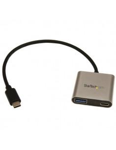 StarTech.com HB30C1A1CPD keskitin USB 3.2 Gen 1 (3.1 1) Type-C 5000 Mbit/s Musta, Hopea Startech HB30C1A1CPD - 1