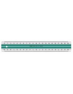 Linex 100202515 viivoitin Pöytäviivain 20 cm Akryylilasi, Kumi Vihreä, Valkoinen 1 kpl Linex 100202515 - 1