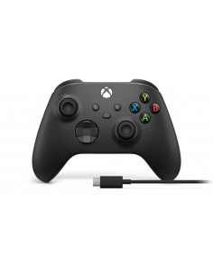 Microsoft Xbox Wireless Controller + USB-C Cable Musta Pad-ohjain Analoginen/Digitaalinen PC, One, One S, X, Series X Microsoft