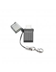 Intenso Mini Mobile Line USB-muisti 32 GB USB Type-A / Micro-USB 2.0 Musta Intenso 3524480 - 1