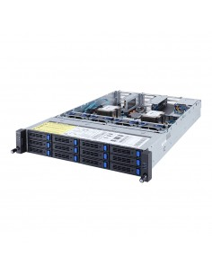 Gigabyte R281-3C1 Intel® C621 LGA 3647 (Socket P) Rack (2U) Svart, Grå Gigabyte 6NR2813C1MR-00 - 1
