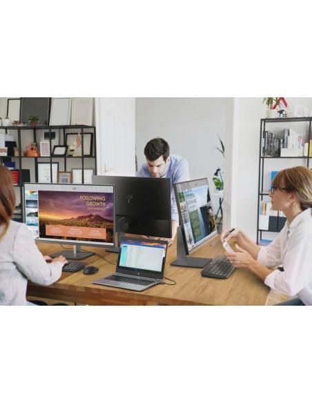 "HP EliteDisplay E243d 60.5 cm (23.8"") 1920 x 1080 pikseliä Full HD LED Harmaa, Hopea Hp 1TJ76AA#ABB - 6"