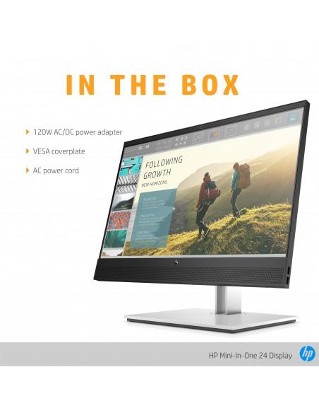 """HP Mini-in-One 24 60.5 cm (23.8"""") 1920 x 1080 pixlar Full HD LED Svart Hp 7AX23AA#ABB - 10"""