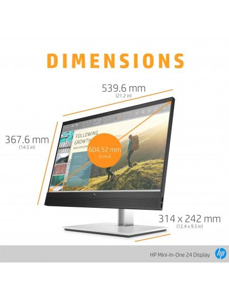 """HP Mini-in-One 24 60.5 cm (23.8"""") 1920 x 1080 pixlar Full HD LED Svart Hp 7AX23AA#ABB - 13"""